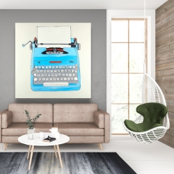 Canvas 48 x 48 - Blue typewritter machine