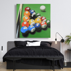Canvas 48 x 48 - Pool table with ball formation