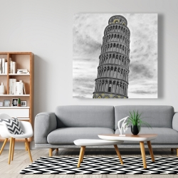 Canvas 48 x 48 - Tower of pisa in italy