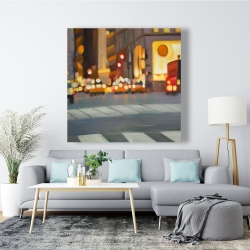 Canvas 48 x 48 - Blurred view of new york