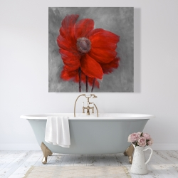 Canvas 48 x 48 - Red flower in the wind