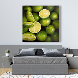 Canvas 48 x 48 - Basket of limes