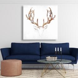 Toile 48 x 48 - Tête de chevreuil aspect bois