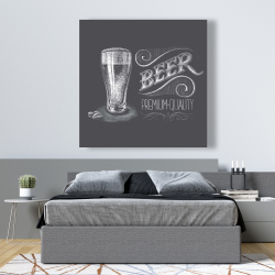 Canvas 48 x 48 - Vintage beer signboard