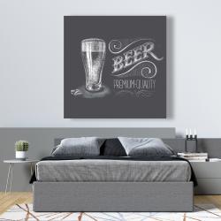 Canvas 48 x 48 - Vintage beer signboard