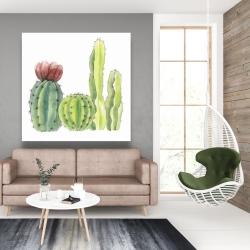 Canvas 48 x 48 - Four little cactus