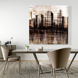 Canvas 48 x 48 - Sketch of the city