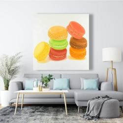 Canvas 48 x 48 - Delicious macaroons