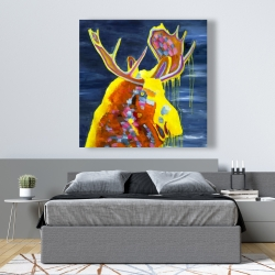 Canvas 48 x 48 - Colorful moose