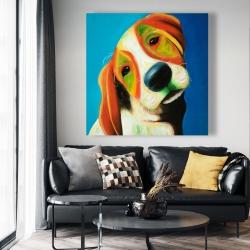 Canvas 48 x 48 - Colorful beagle dog