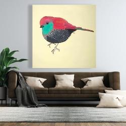 Canvas 48 x 48 - Little purple bird illustration
