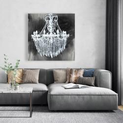 Canvas 48 x 48 - Big glam chandelier