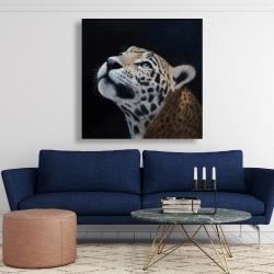Canvas 48 x 48 - Realistic leopard face