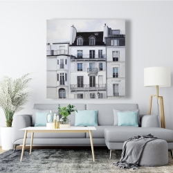 Canvas 48 x 48 - Buildings along the seine river