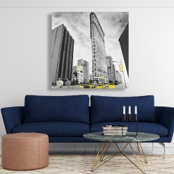 Canvas 48 x 48 - Outline of flatiron building to new-york