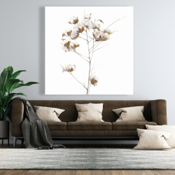 Canvas 48 x 48 - Cotton flowers branch