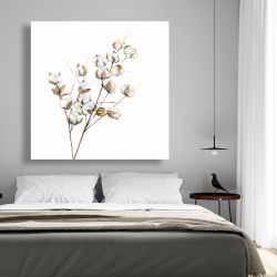 Canvas 48 x 48 - A branch of cotton flowers