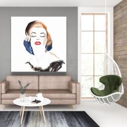 Canvas 48 x 48 - Vintage chic maryline monroe