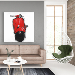 Canvas 48 x 48 - Red italian scooter