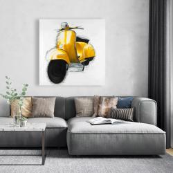 Canvas 48 x 48 - Yellow italian scooter