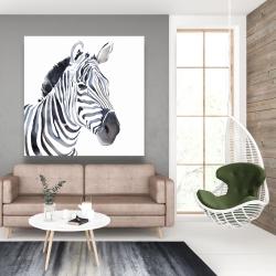 Canvas 48 x 48 - Watercolor zebra
