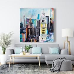 Canvas 48 x 48 - Colorful cityscape of manhattan