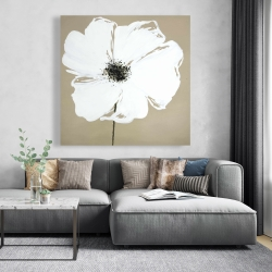 Canvas 48 x 48 - Abstract color splash petals flower