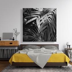 Canvas 48 x 48 - Monochrome tropicals leaves