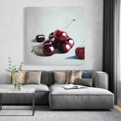 Canvas 48 x 48 - Glossy dark cherries