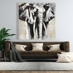 Canvas 48 x 48 - Grayscale elephant