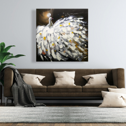 Canvas 48 x 48 - Abstract peacock