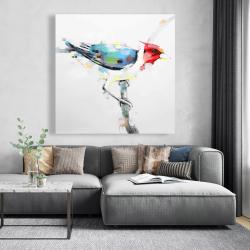 Canvas 48 x 48 - Colorful woodpecker