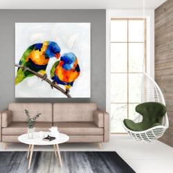 Canvas 48 x 48 - Couple of parrots