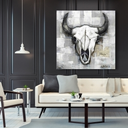 Canvas 48 x 48 - Industrial style bull skull