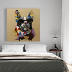 Canvas 48 x 48 - Abstract smoking dog