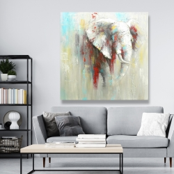 Canvas 48 x 48 - Abstract elephant with paint splash
