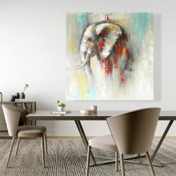 Canvas 48 x 48 - Abstract paint splash elephant