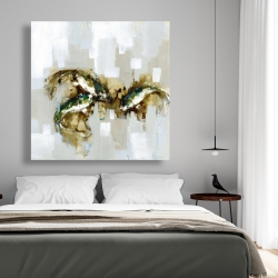 Canvas 48 x 48 - Three abstract koi fish