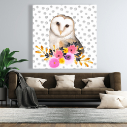 Canvas 48 x 48 - Beautiful owl