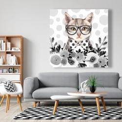 Canvas 48 x 48 - Geek cat