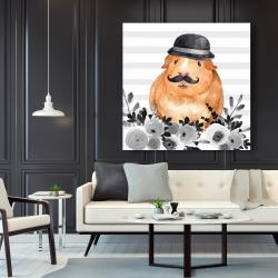 Canvas 48 x 48 - Guinea pig detective