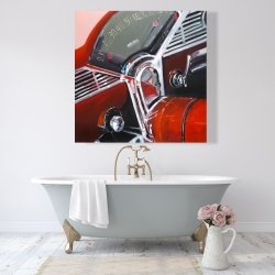 Canvas 48 x 48 - Vintage red car dashboard