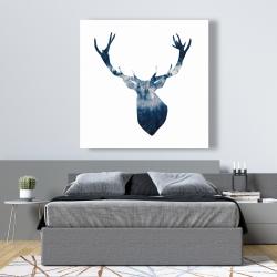 Canvas 48 x 48 - Deer head landscape