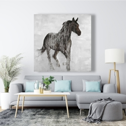 Canvas 48 x 48 - Abstract brown horse