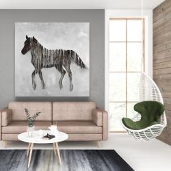 Canvas 48 x 48 - Gambading abstract horse