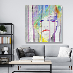 Canvas 48 x 48 - Abstract colorful portrait