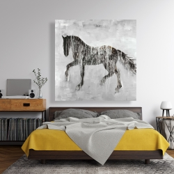 Canvas 48 x 48 - Horse brown silhouette