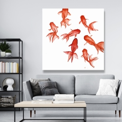 Canvas 48 x 48 - Red fishes