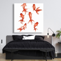Canvas 48 x 48 - Small red fishes