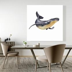 Canvas 48 x 48 - Watercolor blue whale